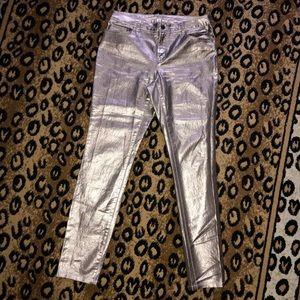 Denim - Matalic Skinny Jean Pants